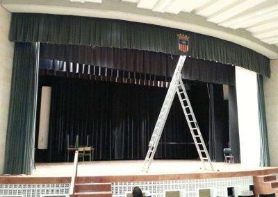 Instalación de telones para teatros - DecoratelESPAÑA